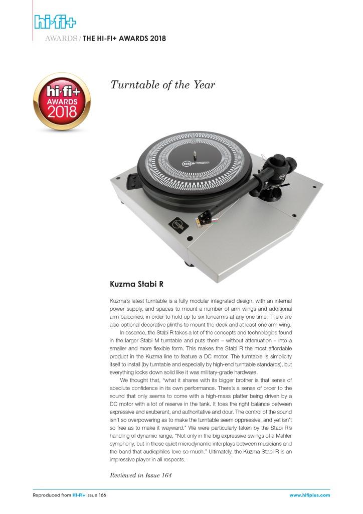 Stabi R & DIY options - Kuzma Professional Turntables